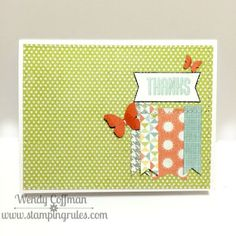Stamping Rules!: Day 163: Zoe Thanks Card