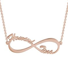 #BFCM #CyberMonday #Soufeel - #Soufeel Infinity Personalized Name Necklace Rose Gold - AdoreWe.com