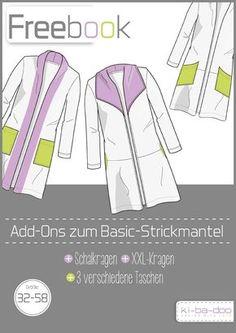 Freebook zum Basic Strickmantel Damen - Schnittmuster und Anleitung als PDF, versandkostenfrei