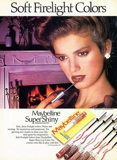 1979 Maybelline Super Shiny Lip Color Ad...Gia Carangi♥