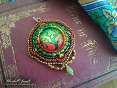 Tree of life pendant - Embroidery pendant  Add some color to your outfits with this handmade czech beads pendant ! The designs are original,
