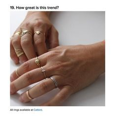 We agree, @BuzzFeed, the tinier the rings the better & stack...