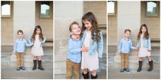 blush pink and blue family pictures, lace dress for girls, how to use architecture in your family portraits, how to pose your family session, what to wear to your family shoot, how to create natural posing, kansas city family photographer, brother and sister poses