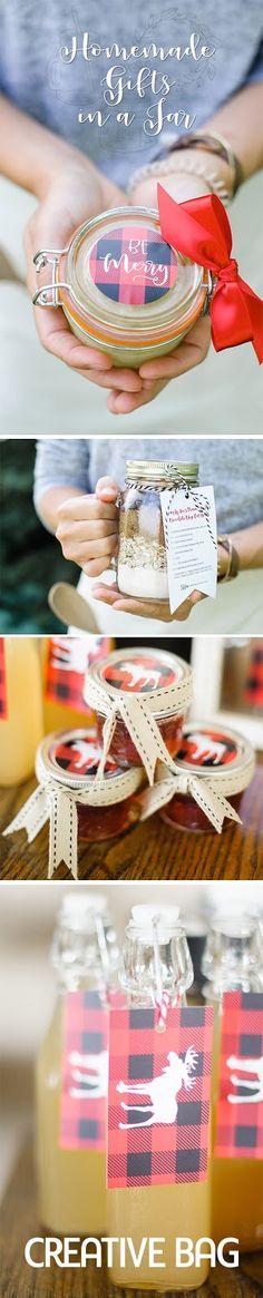 homemade gifts in jars   creativebag.com