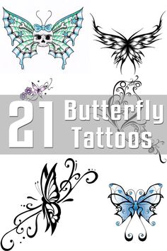 21 Butterfly Tattoo Designs | The Body is a Canvas
