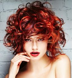 Red curls! hairstylist❤️Studió Parrucchieri Lory (Join us on our Facebook Page)  Via Cinzano 10, Torino, Italy.