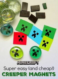 ) Minecraft Magnets — great party favor or craft Super Easy (& cheap!) Minecraft Magnets — great party favor or craft Minecraft Pokémon, Minecraft Crafts, Minecraft Skins, Minecraft Buildings, Minecraft Bedroom, Minecraft Market, Minecraft Classroom, Minecraft School, Easy Minecraft Houses