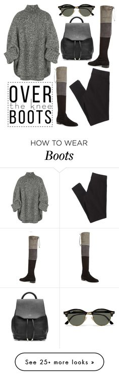 """797. Over-The-Knee-Boots"" by zaandupreez on Polyvore featuring American Eagle Outfitters, Stuart Weitzman, Michael Kors, Ray-Ban, rag & bone and Boots"
