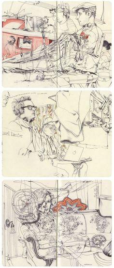 James Jean | Mole B #Moleskine #sketch #art #journal http://www.jamesjean.com/