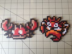 Pokemon Bead Sprite Set  Krabby Family by ToughTurtles on Etsy, $5.50