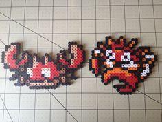 Pokemon Bead Sprite Set  Krabby Family by ToughTurtles on Etsy, $5.50
