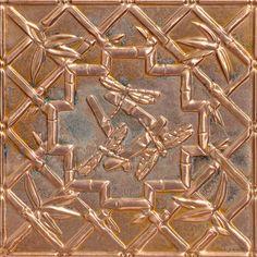 """Decorative Ceiling Tiles, Inc. Store - Dragonflies - Copper Ceiling Tile - 24""""x24"""" -"""