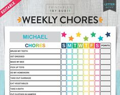 Kids Chore Chart Chore Chart for Kids Kids Chores
