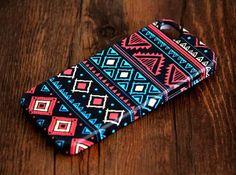 Aztec Retro Geometric iPhone 5S/5C/5/4S/4 3D Wrap Case