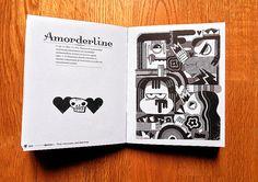 Colaboración para el Amorcionario. Mi palabra fue Amorderline o lo que es lo mismo, quedarse tonto de amor según la RAE.