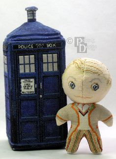 The Fifth Doctor 3D Cross Stitch Doll and Sewing by robinsdesign