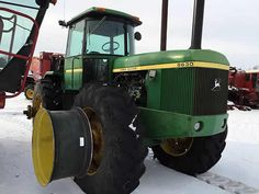 John Deere 8630 tractor salvaged for used parts. This unit is available at All States Ag Parts in Hendricks, MN. Call 877-530-6620 parts. Unit ID#: EQ-25409. The photo depicts the equipment in the condition it arrived at our salvage yard. Parts shown may or may not still be available. http://www.TractorPartsASAP.com