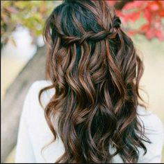 highlights for dark brown hair. I want this!!!!!! So cute...