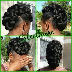 Criss-Cross Goddess Braids - 70 Best Black Braided Hairstyles That Turn Heads in 2019 - The Trending Hairstyle Black Hair Updo Hairstyles, African Braids Hairstyles, Older Women Hairstyles, Black Girls Hairstyles, Braided Hairstyles, Beautiful Hairstyles, Hairstyles Pictures, Modern Hairstyles, Hair Pictures