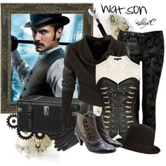 Different Sherlock but still an awesome Watson! I WANT THAT SHIRT AND THOSE PANTS SO MUCH!