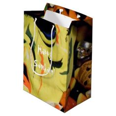 #Frankenstein mask and candy medium gift bag - #Halloween #happyhalloween #festival #party #holiday