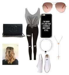 """Untitled #17"" by ellamcconnell2005 on Polyvore featuring Topshop, Converse, Casetify and Lana Jewelry"