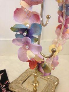 Minuit – Flower Headband [mix : orange~lavender]