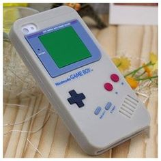 Gray Silicone Gameboy Case for Iphone. this is great!!