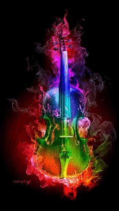 Questa immagine ripressenta là felicità que la musica ci dà love violin 😘 Flyer Inspiration, Foto Gif, Instruments, Over The Rainbow, Rainbow Gif, Fractal Art, Rainbow Colors, Color Splash, Fantasy Art