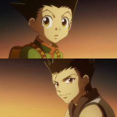 Gon & Jin - Hunter x Hunter Killua, Hisoka, Danshi Koukousei No Nichijou, Ging Freecss, Barakamon, Yoshihiro Togashi, Death Parade, Natsume Yuujinchou, Bleach Anime