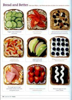 Pan tostado en diferentes presentaciones sanas