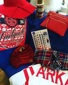 Ready for the game? WPS! White/Red Arkansas Spirit Jersey- $52.95 Plaid blanket scarf- $21.95 Razorback Spirit Tattoos- $12.95 Rose Gonzalez Bracelets- $19.95 Red Floppy Hat- $24.95 Red C.C Beanie- $12.95 Red cross body Wristlet- $26.95 Red Simply Southern t-shirt- $19.95 #madisonsbluebrick #WPS #madforplaid #ccbeanie #spiritjerseys #floppyhat #Boutiqueshopping #razorbackred