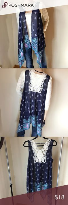 🔒NWT BOHEMIAN ELEPHANT LACE CHIFFON SHEER SZ M 🔒NWT BOHEMIAN ELEPHANT LACE CHIFFON SHEER SZ M. PERFECT CONDITION! NO SNAGS STAINS HOLES RIPS! FESTIVAL WORTHY. 🐘 Tops