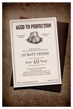 40th Birthday Invite From Wild Ink Press Invitations Parties 40