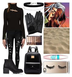 """""""Rogue (Anna Marie) 2#"""" by letycalazans on Polyvore featuring moda, Versus, River Island, Chicnova Fashion, Miss Selfridge, Casetify e Maybelline"""