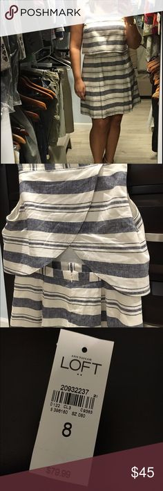 Ann Taylor LOFT linen dress NWOT. Light, linen & cotton dress - removed tags, put it on & took it right back off. Cute keyhole opening in the back. Very comfortable but just doesn't fit me right. I still have tag & can send additional pictures if needed. LOFT Dresses Midi