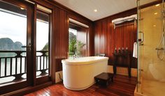 Bathroom in Peak Cruise Premium Suite - Halong Bay, Vietnam