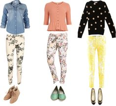 """Flower Power! Outfit #3 – floral jeans"" by justzenning on Polyvore"
