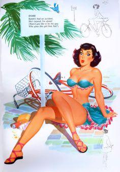 Pin up girl art book