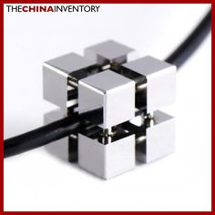 TUNGSTEN CARBIDE PUZZLE LIKE CUBE PENDANT P0904