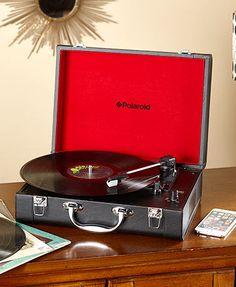 Polaroid Turntable and Bluetooth Portable Speaker