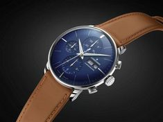 Junghans Meister Chronoscope Blue Dial Watch: Another addition to the list of dress watches that would leave you awestruck. This elegant beauty features three beautiful sub-dials accommodated in a royal blue dial face. The dial also accommodates a day and date window which gives you additional information.