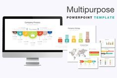 Multipurpose PowerPoint Template by Graphicslide on @creativemarket