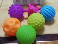 3 x Go Bounce Small Soft Ball Sensory Tactile Special Needs Educational Toy
