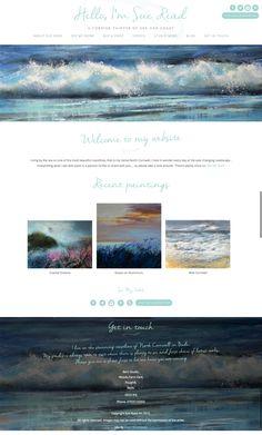 Sue Read: Animated Logo and Responsive Website Design Bude Cornwall, Website Designs, Software Development, Coastal, Graphic Design, Logo, Logos, Site Design, Website Layout