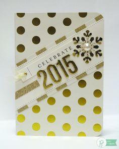New Year Card by Mendi Yoshikawa using the #JHHomeMade collection from @PebblesInc. @SnippetsByMendi