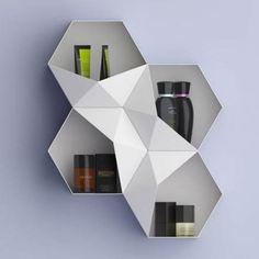 Es tendencia en decoración: muebles geométricos #tendencias #decoracion #estanterias