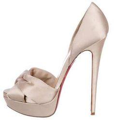 f6e7f23a624 Christian Louboutin Satin D Orsay Pumps Hot Shoes
