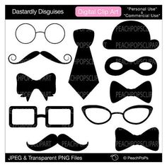 Clip Art Photo Booth Clip Art mustache clip art royalty free 3 fun party decor of photo clipart digital silly silhouettes hat bow tie dastardly disguises clip