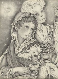 adrienne segur illustrations | Adrienne Segur 1954 Christmas illustrated by Adrienne Ségur | Hprints ...